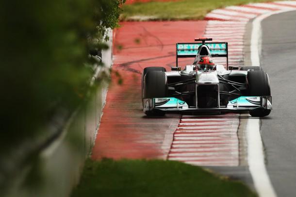 Michael Schumacher durante el GP de Canadá 2011