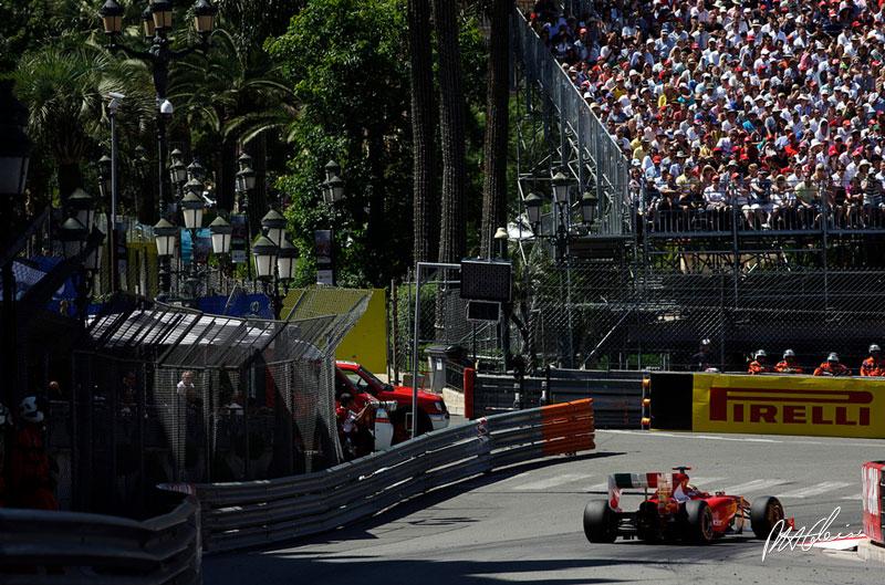 Fernando Alonso durante el GP de Mónaco 2011