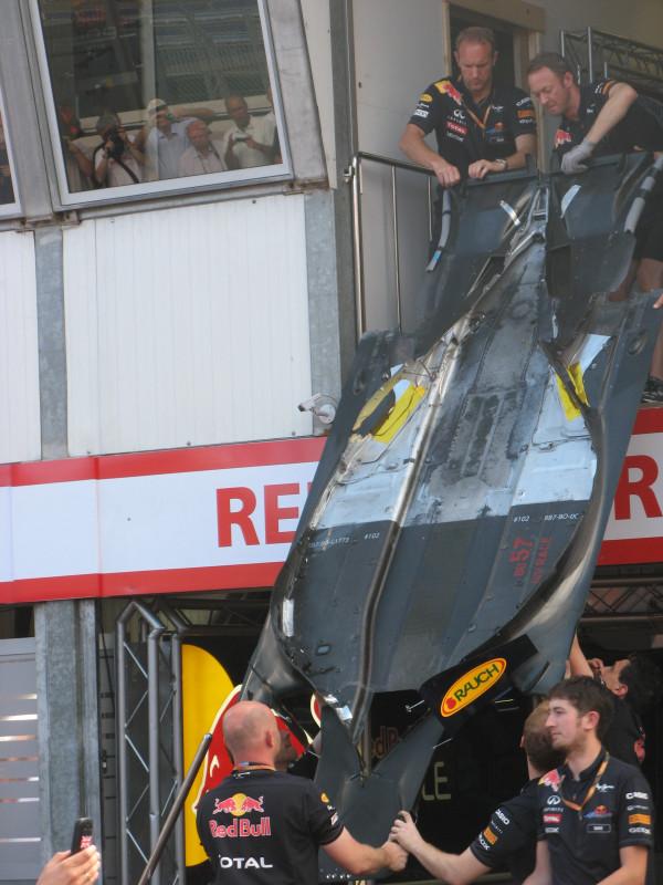 Fondo plano del Red Bull RB7 de Mark Webber en Mónaco 2011