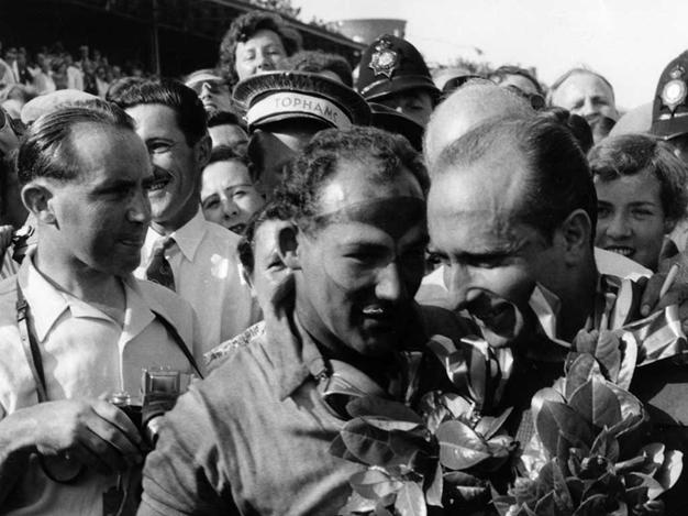 Fangio y Moss. Silverstone 1955