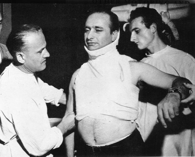 Juan Manuel Fangio herido tras accidente