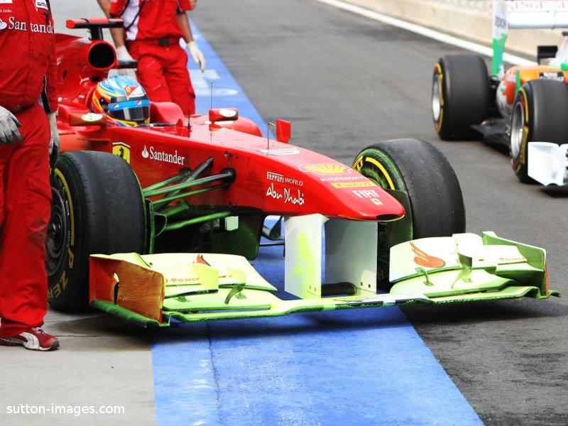 Nuevo alerón delantero del Ferrari 150º Italia en Corea 2011