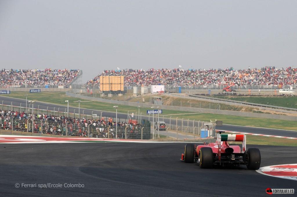 Fernando Alonso durante el GP de la India de 2011