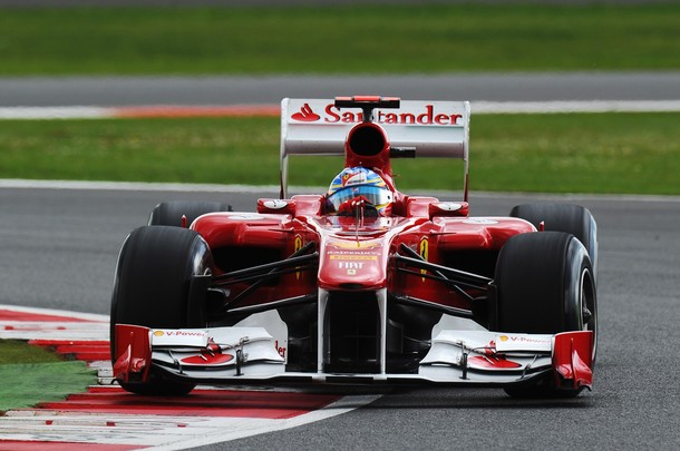 Fernando Alonso durante la calificación del GP de Gran Bretaña 2011