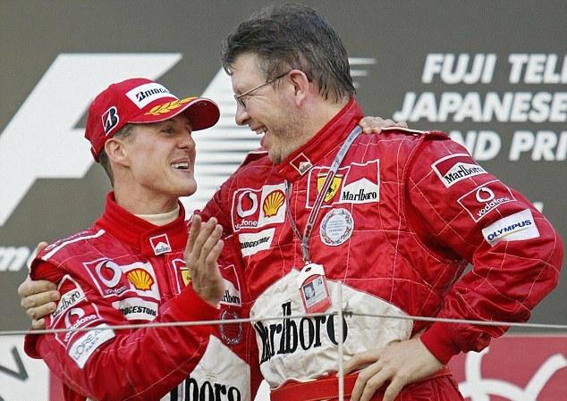 Michael Schumacher y Ross Brawn