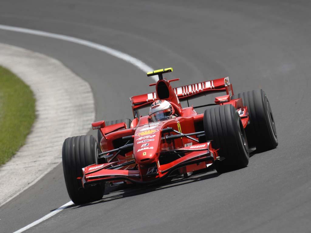 Kimi Raikkonen en Indianápolis en 2007