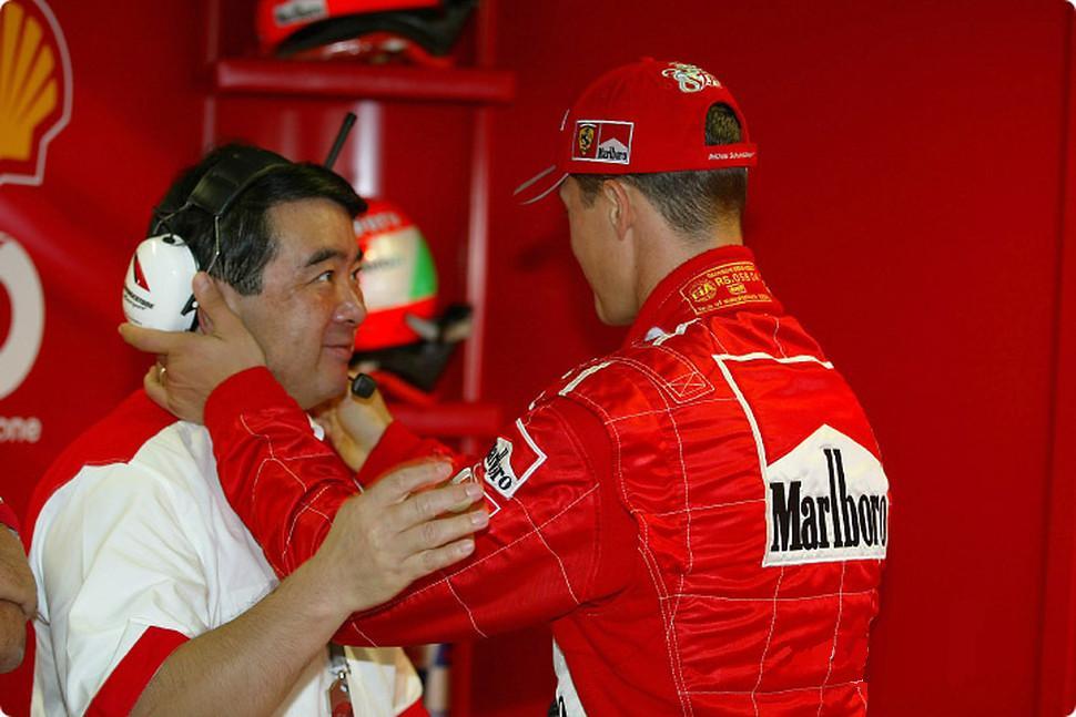 Hirohide Hamashima y Michael Schumacher