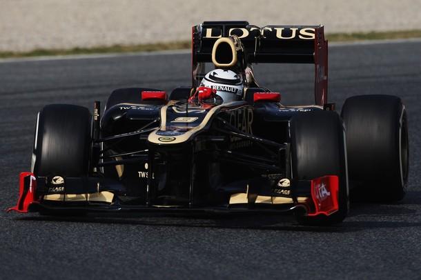 Kimi Raikkonen en los tests de pretemporada 2012 en Motmeló