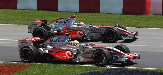 Fernando Alonso, Lewis Hamilton, McLaren Mercedes 2007