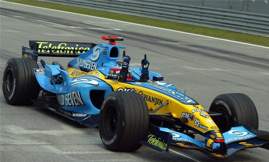 Fernando Alonso con Renault en 2005