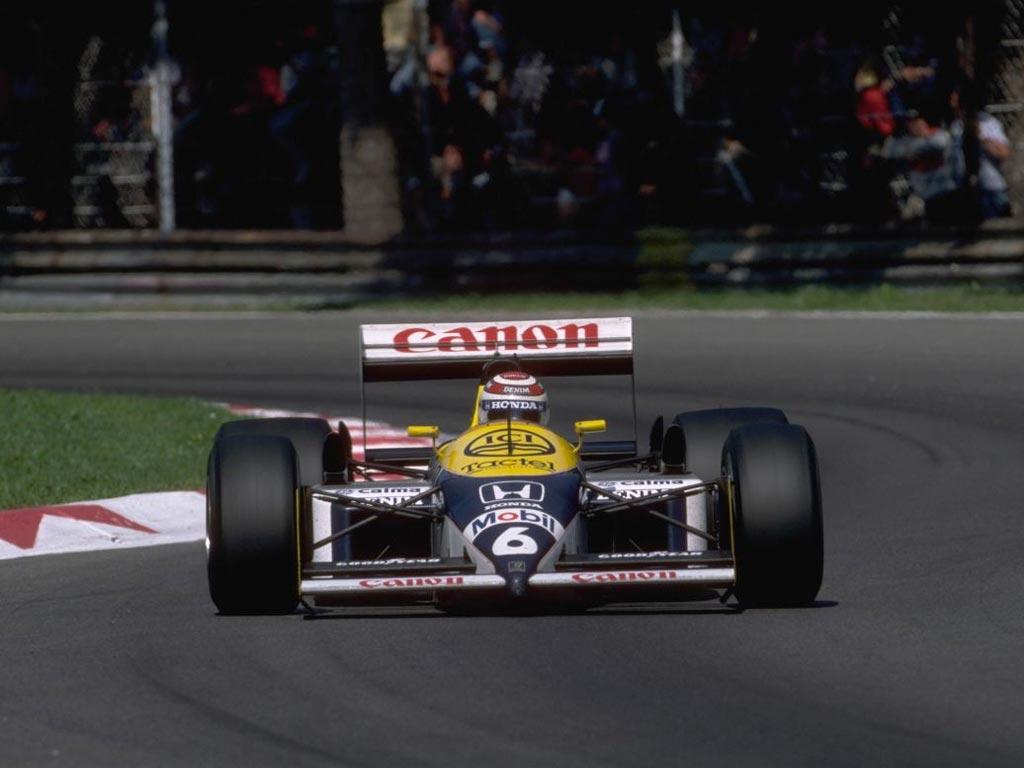 Nelson Piquet en Monza en 1987