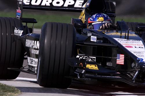 Fernando Alonso con el Minardi en 2001