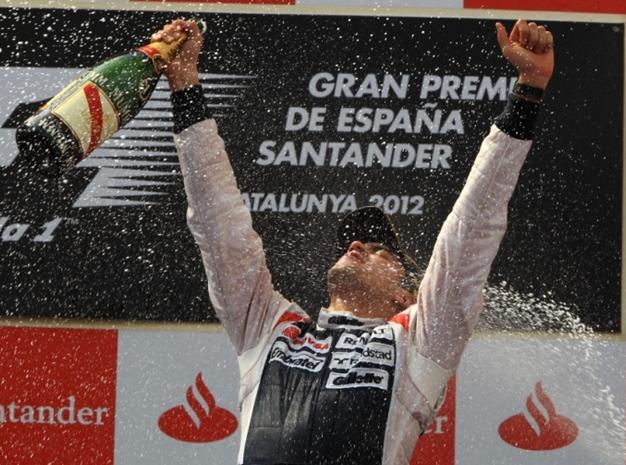 Pastor Maldonado vencedor. GP España 2012