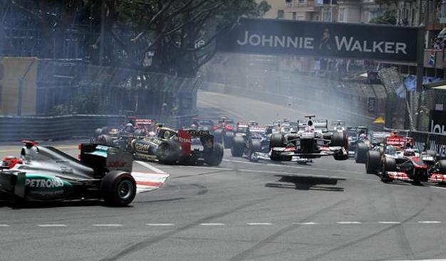 Salida GP Mónaco 2012