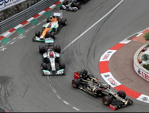 Típico trenecito. GP Mónaco 2012