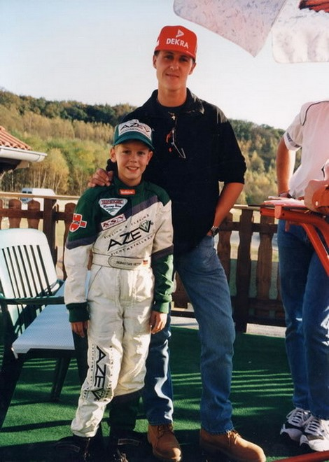Sebastian Vettel con Michael Schumacher