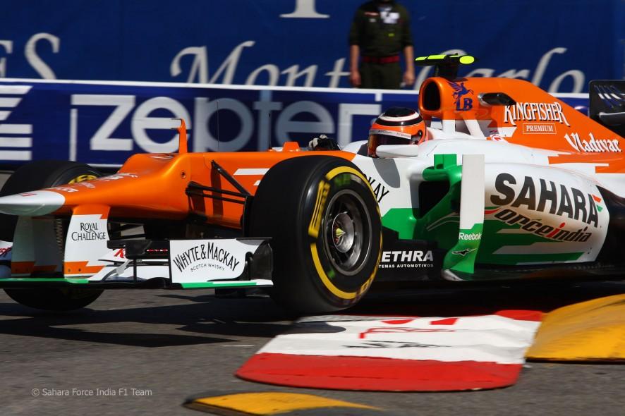 Nico Hulkenberg en los entrenamientos del GP de Mónaco 2012