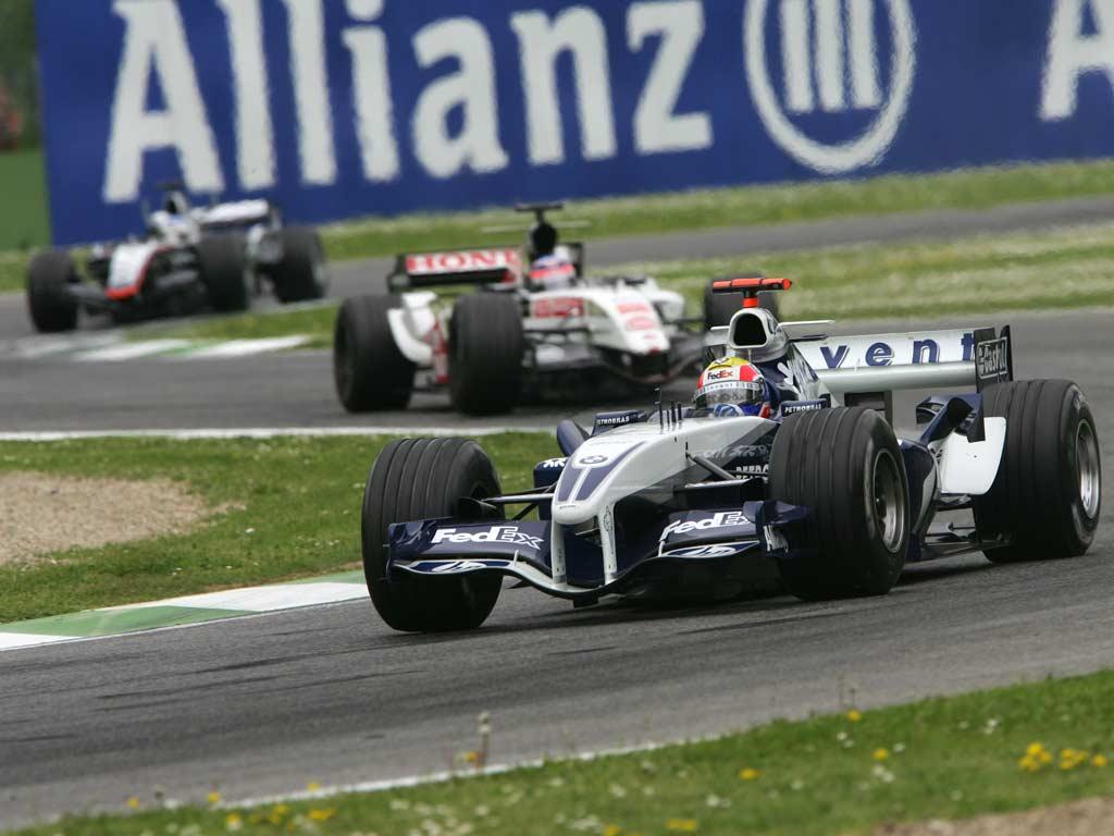 Mark Webber en Imola 2005 con el Williams