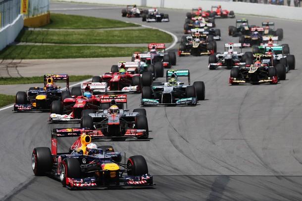 Salida del GP de Canadá 2012