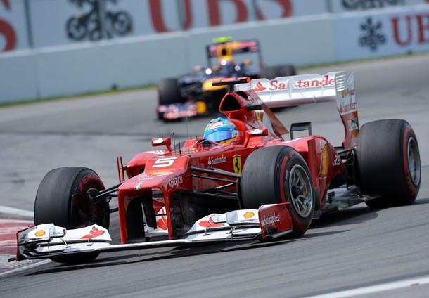 Fernando Alonso durante el GP de Canadá 2012