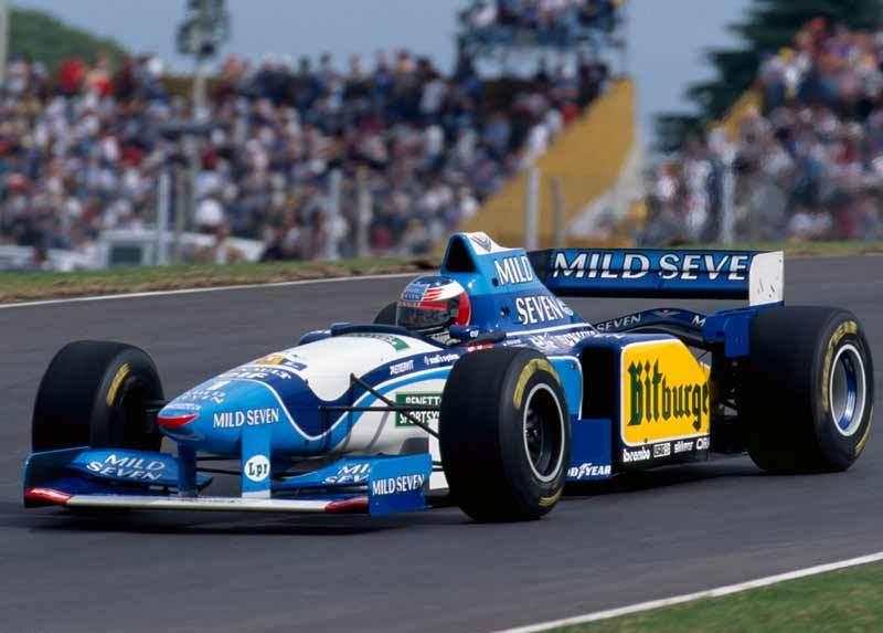 Michael Schumacher con el Benetton B195 en 1995