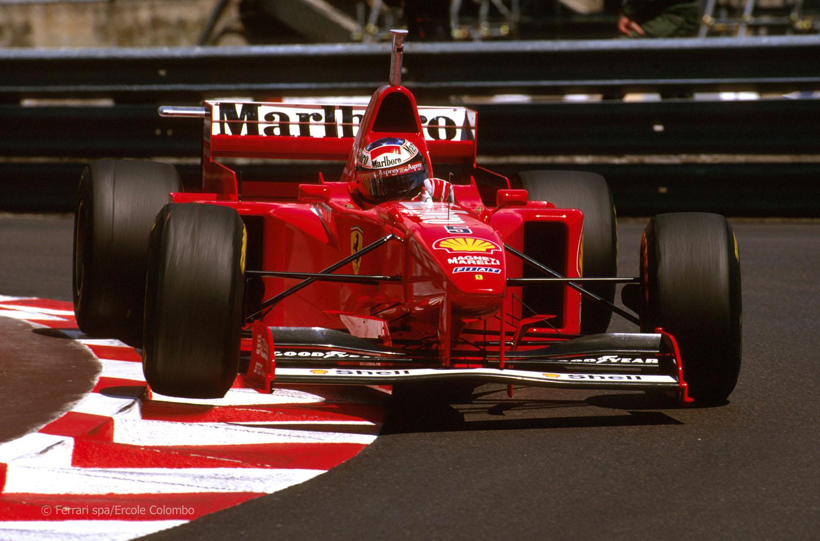 Michael Schumacher en Mónaco en 1997