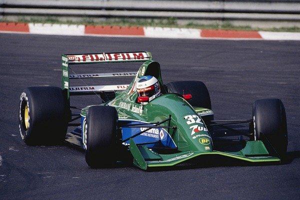 Michael schumacher en su debut en F1 en Spa-Francorchamps en 1991