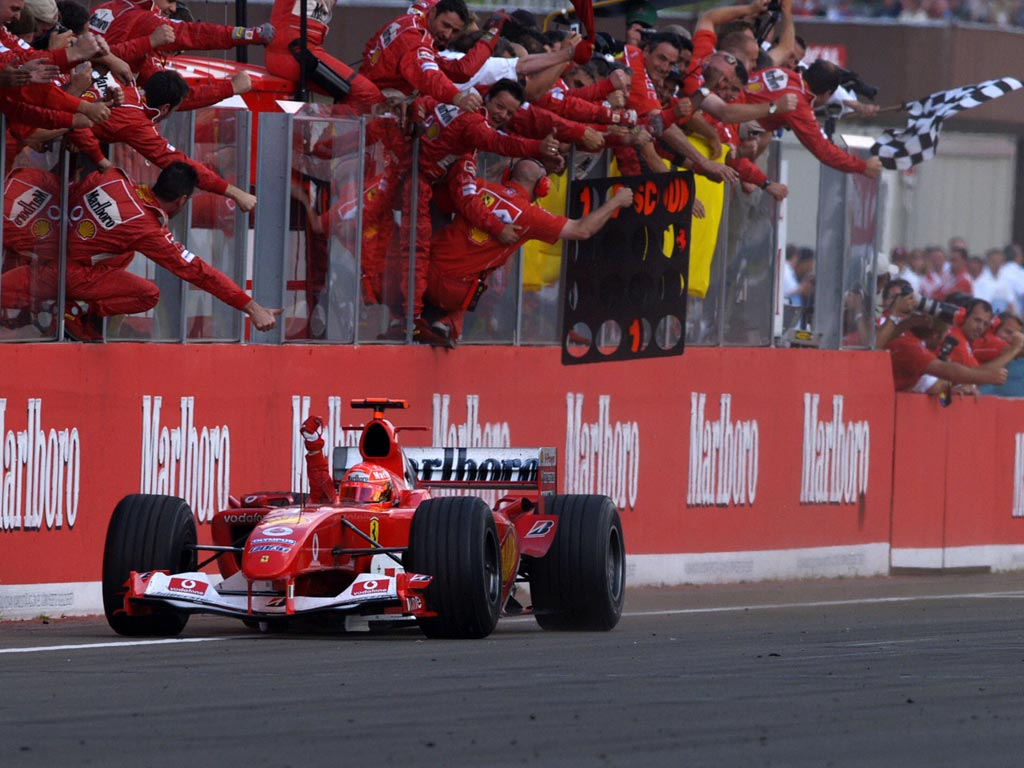 Michael Schumacher en Hungría 2004