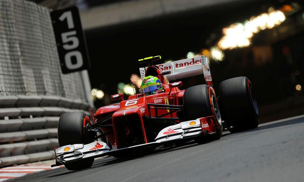 Felipe Massa en la calificación del GP de Mónaco 2012