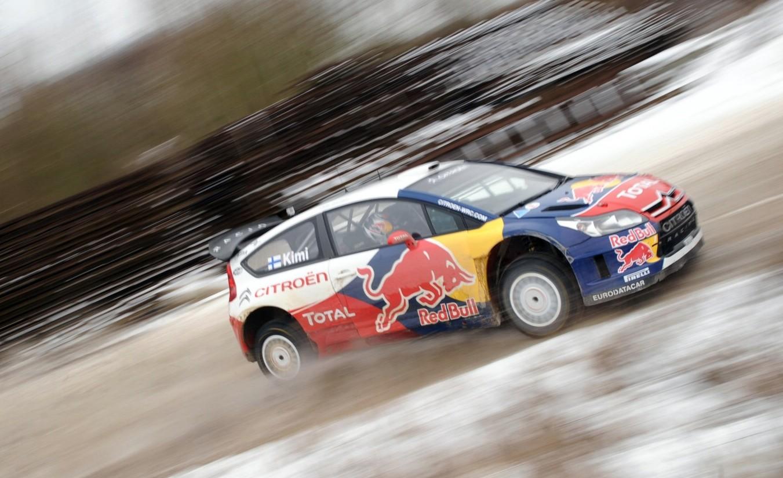 Kimi Raikkonen en el Mundial de Rallyes con el Citroen C4 WRC