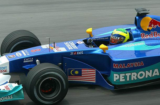 Felipe Massa con Sauber en 2002