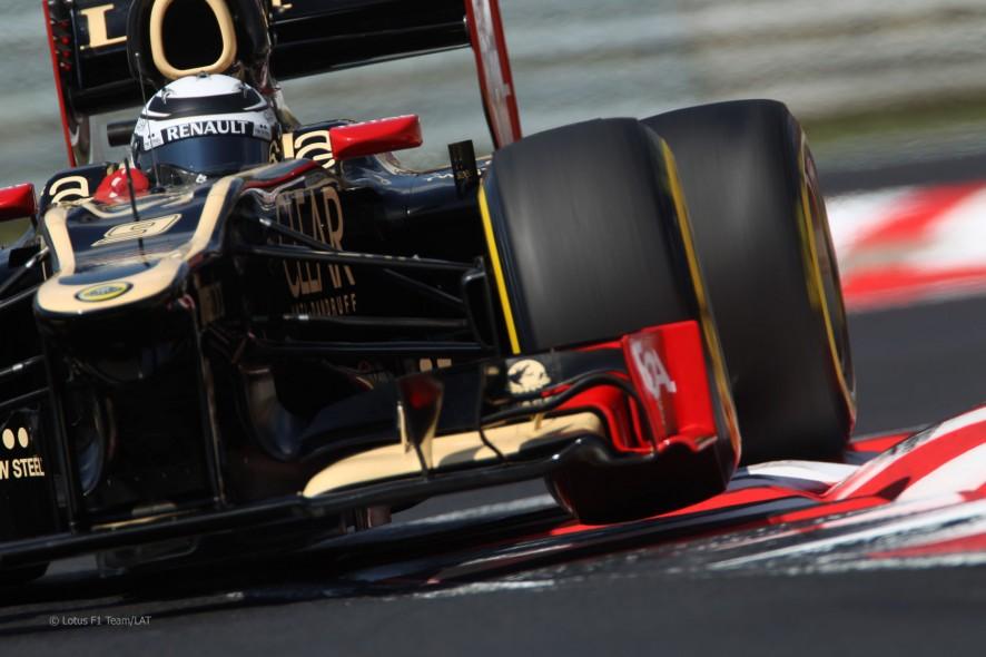 Kimi Raikkonen durante la calificación del GP de Hungría 2012