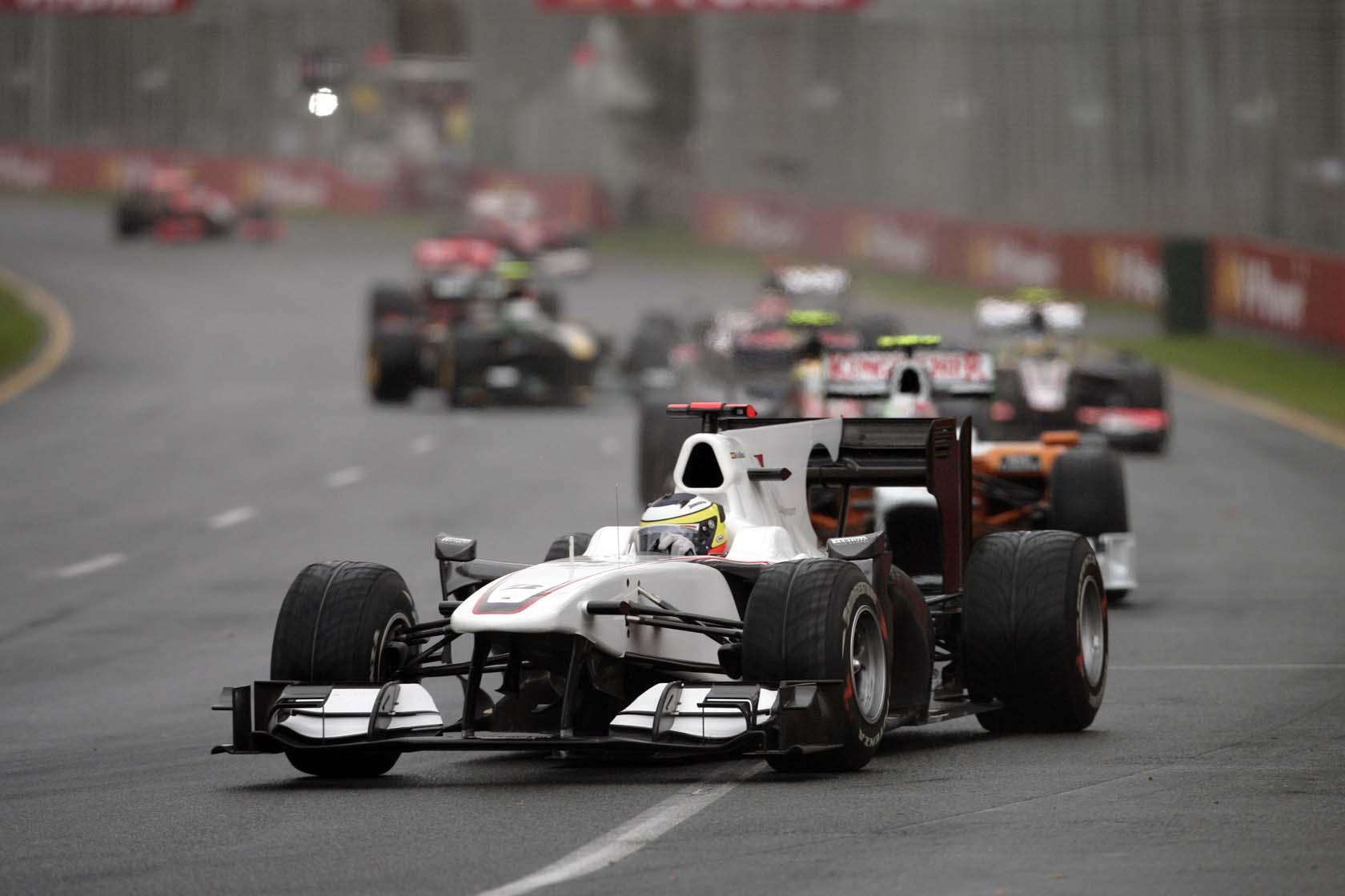 Pedro de la Rosa en Melbourne 2010 con el Sauber
