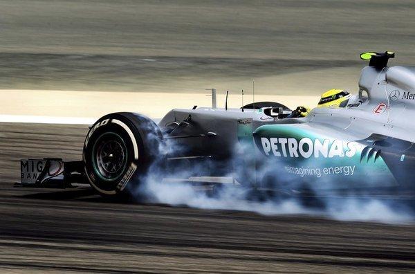 Nico Rosberg en los entrenamientos del GP de Baréin 2012