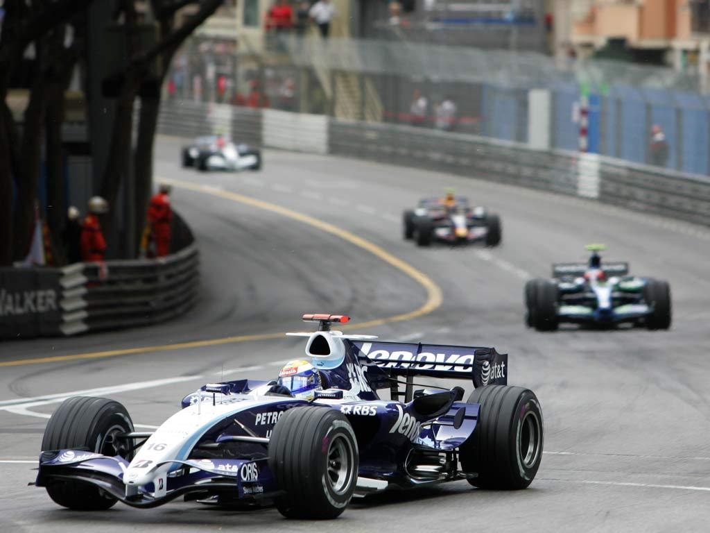 Nico Rosberg durante el GP de Mónaco 2007