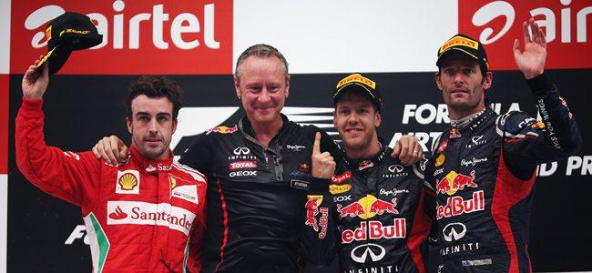 2012 Indian Grand Prix Podium