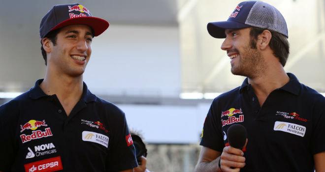 Ricciardo y Vergne continuan en Toro Rosso