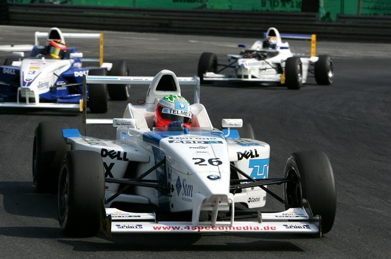 Sergio Perez en la Fórmula BMW alemana en 2005