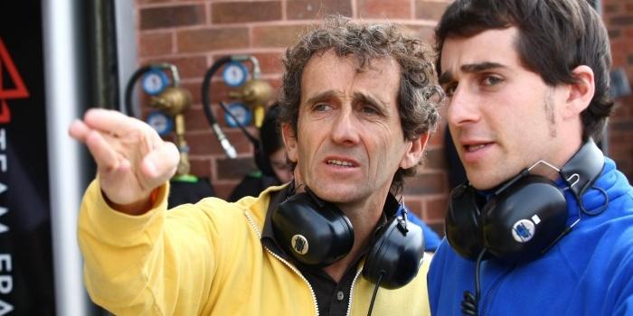 Alain Prost con su hijo Nicolas
