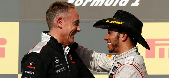 Martin Whitmarsh and Lewis Hamilton at United States GP
