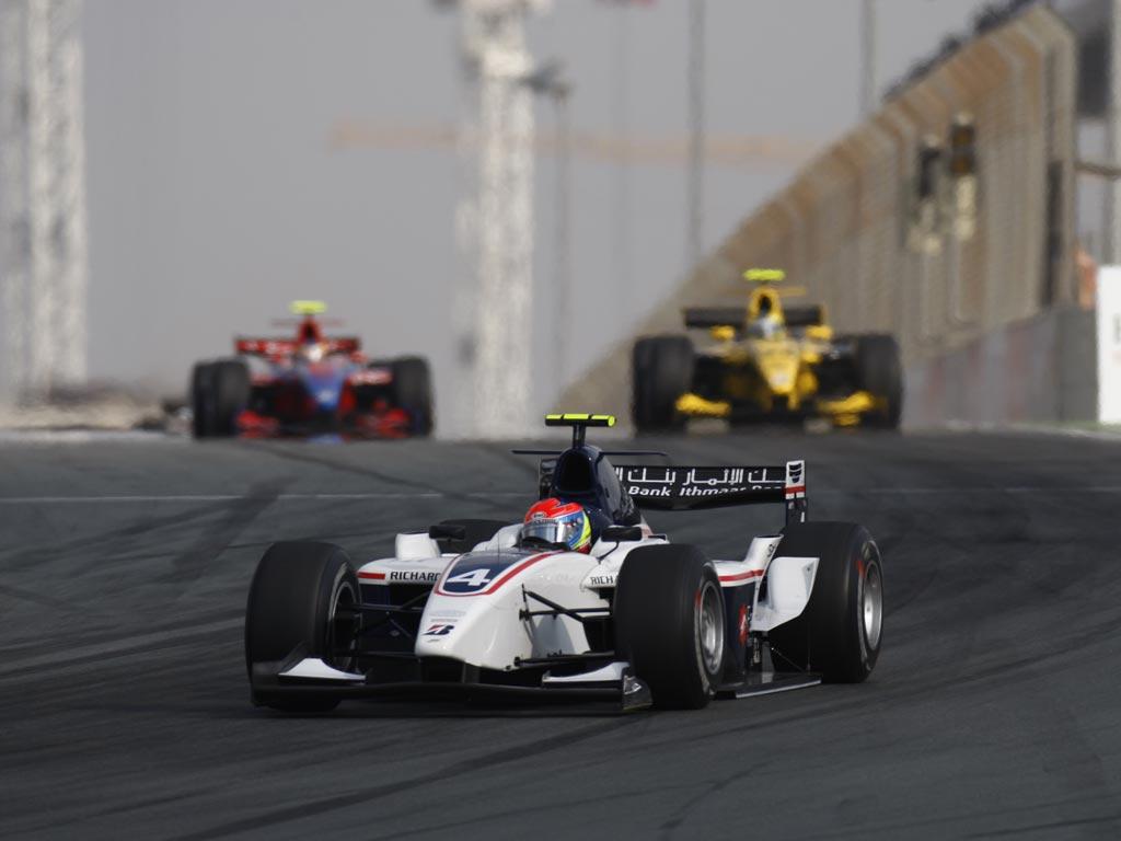 Romain Grosjean en la GP2 asiática en Dubai en 2008