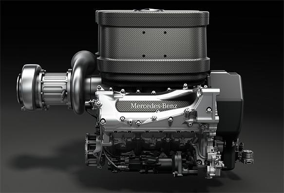 Motor Mercedes V6 1.6 litros turbo