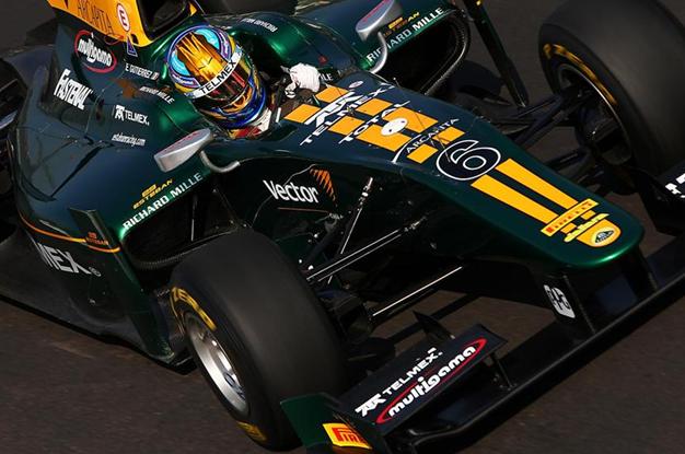 E. Gutiérrez con Lotus ART en GP2, Monza 2011