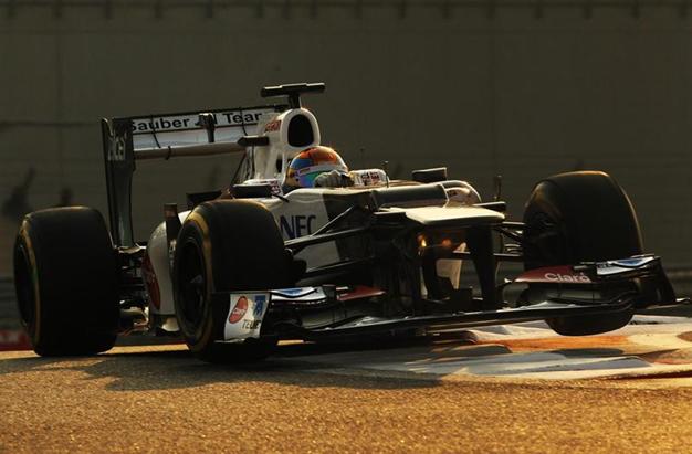 E. Gutiérrez con Sauber. Test Jóvenes Pilotos Abu Dabi 2012