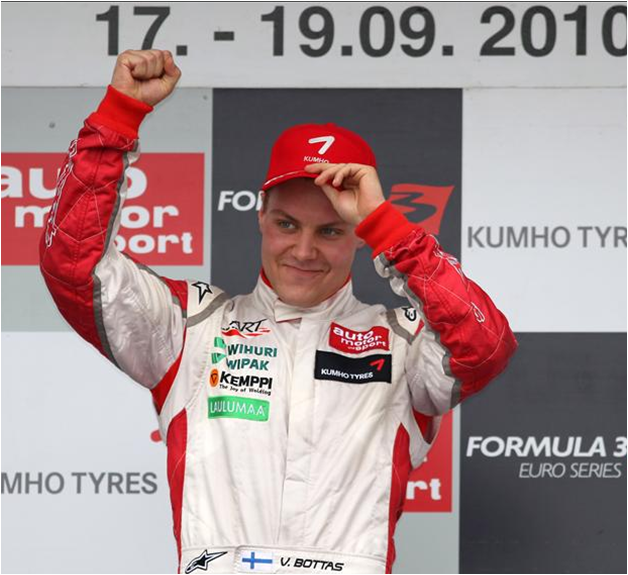 V. Bottas con ART Grand Prix. F3 Euroseries, Alemania 2010