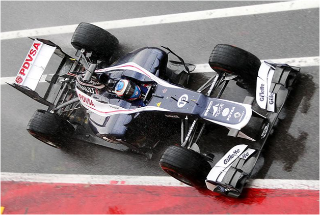 V. Bottas con el Williams FW34. Mugello F1 Test 2012