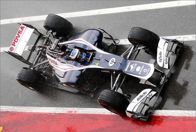 V. Bottas con el Williams FW34. Mugello F1 Test 2012