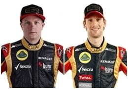Kimi Raikkonen y Romain Grosjean
