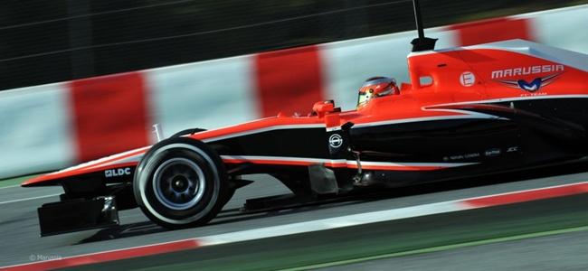 Jules Bianchi durante los tests de pretemporada 2013 en Montmeló