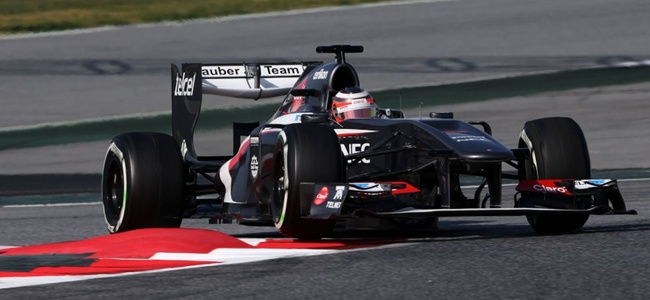 Nico Hulkenberg durante los tests de pretemporada 2013 en Montmeló
